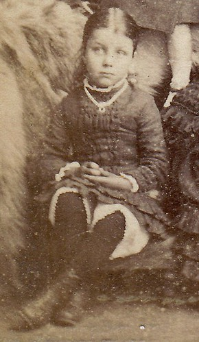 Mother with six children. Leven, Fife, Scotland. (enlarged detail)