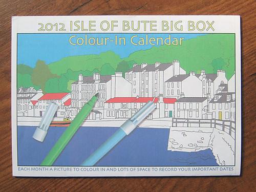 Isle of Bute colour-in calendar