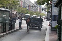 San Francisco Cyclist Market Street