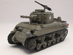 "M4A1 Sherman- Tank Overhaul (""Rumrunner"") Tags: world 2 army war tank lego wwii american ww2 ww division armored 3rd sherman worldwar2 allies m4a1"