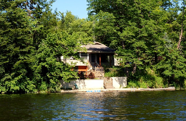 My parents' house from the river