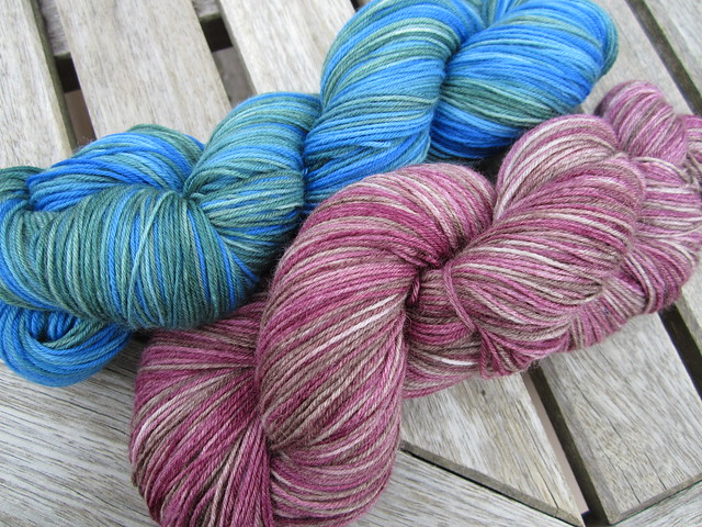 chocolate cherries and lagoon hand dyed