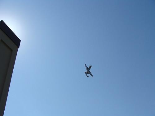 A-10 Warthog buzzes River Market