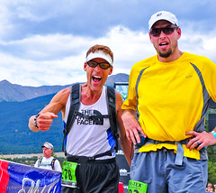 dean karnazes gore-tex trans rockies stage 1 finish (robert fullerton) Tags: road old summer men sport fun golden women scenery colorado skiing eagle young culture competition running course event diane mature finish marble fitness buena avalanche runnners goretextransrockiesrun marblevista