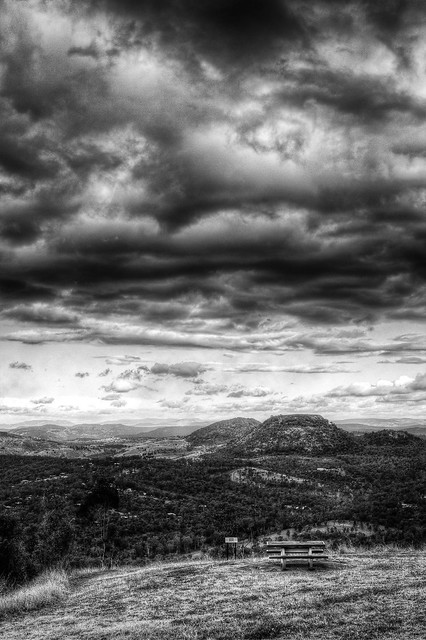 Mt Tabletop from Toowoomba escarpment