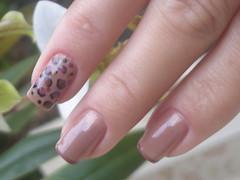 Oncinha bapho (Mhilka ♥) Tags: art nude nail nailart marrom unha oncinha classico francesinha decorada