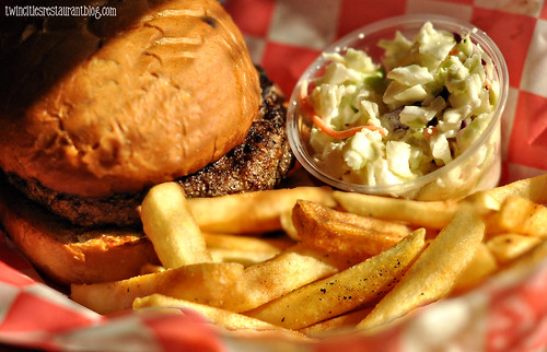 Juicy Lucy with Bleu Cheese, Jalapenos and Onions at Tin Cup's ~ St Paul, MN