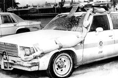Air Filtration on Police Car after Mt. St. Helens eruption - 1980 (KurtClark) Tags: lake classic chevrolet public car vintage washington air police malibu historic moses chevy wa ash law 1978 enforcement mountsthelens 1980 1979 domain moseslake chev filtration