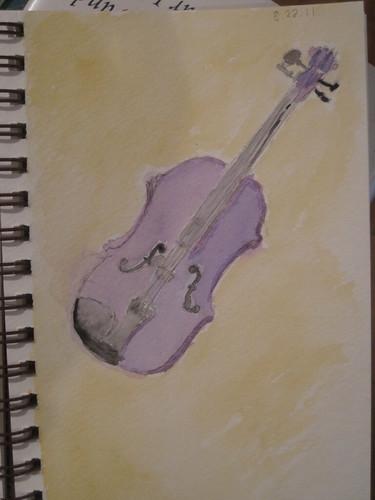 watercolor violin