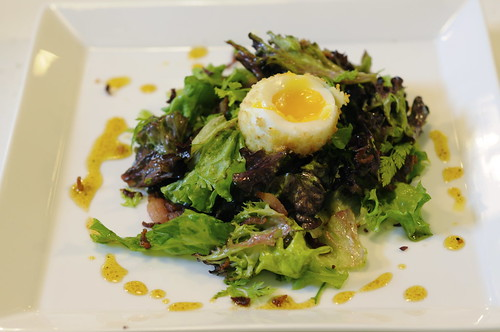 Deep-Fried Egg with Crispy Bacon & Frisse Salad