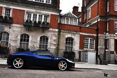 Blue Lagoon (Bas Fransen Photography) Tags: auto london car photography italia ferrari abu dhabi bas supercar fransen 458 2011 458italia ferrari458italia bluabudhabi wwwbasfransencom
