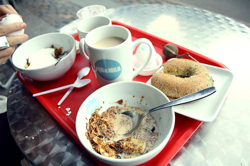 frukost på egg&milk med irisen