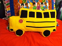 Back to School Bus Pillow