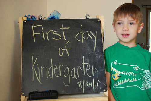 Gray's first day of school