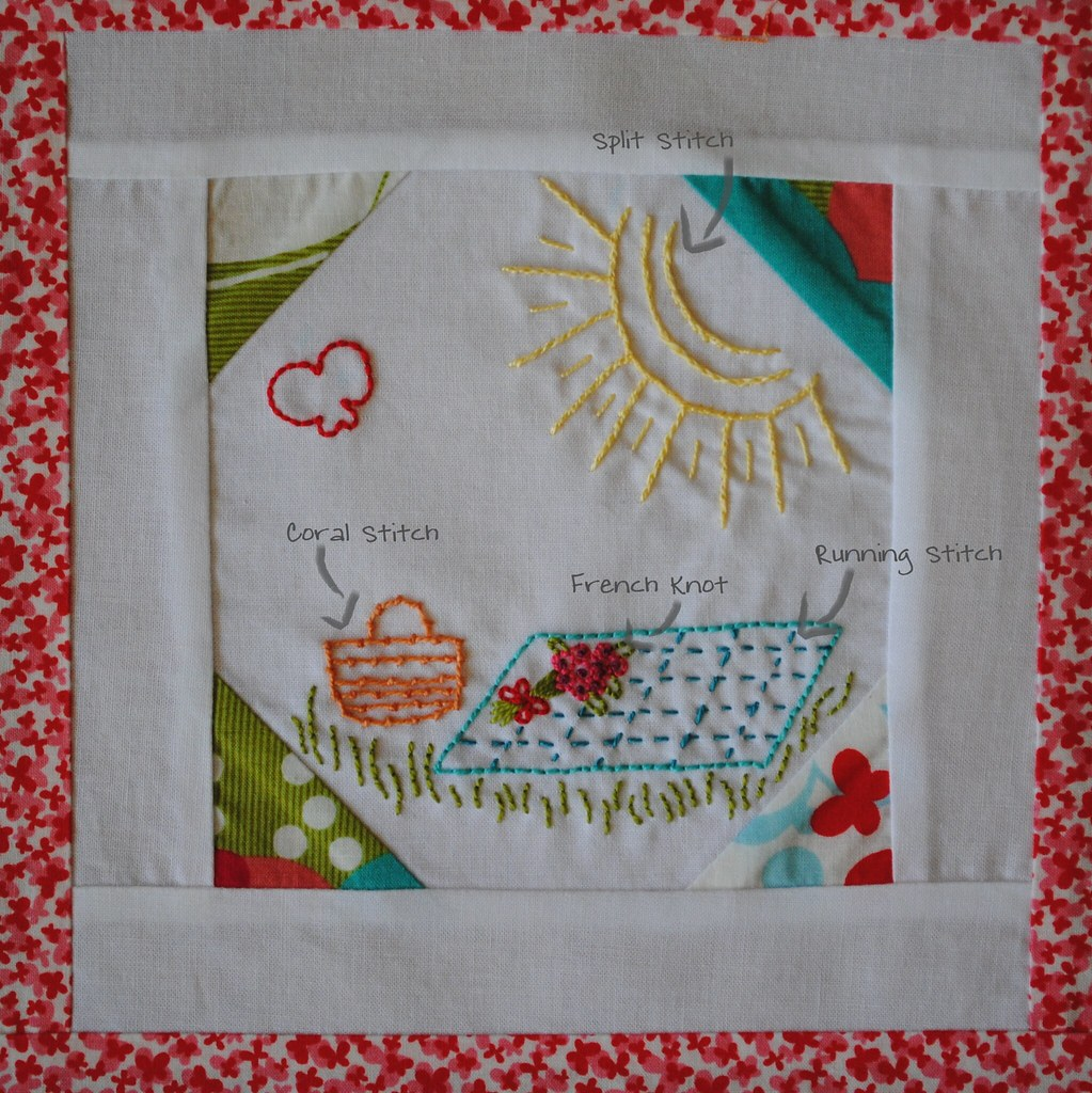 Embroidery 101: Block Six Stitch Diagram