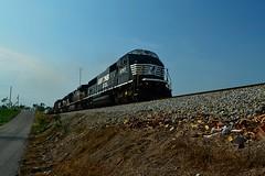 NS 6757, Phil Campbell, Alabama (BDM17) Tags: railroad train al phil ns norfolk alabama engine rail southern locomotive cp campbell philco 6757