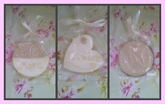 Wedding Place Name Cookies (Little Charm Bakery) Tags: wedding cookies place name