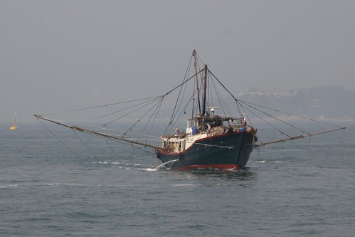 Fishing boat in the West Lamma Channel, Hong Kong