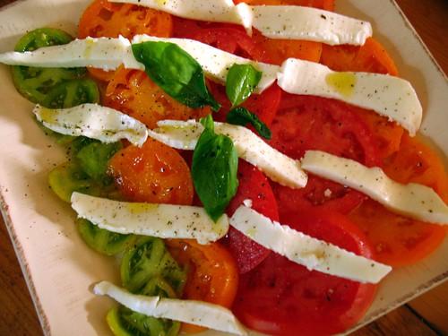 tomato, basil, mozzarella salad