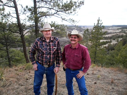 Roy and Steve Breuklander on Sunny Brook Ranch in Niobrara Valley, Nebraska.