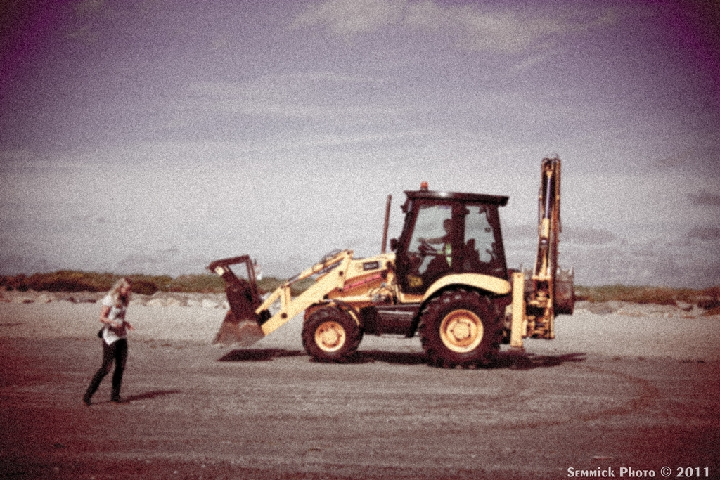 Loader on Beach - Hipstamatic