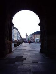 The old roman city gate porta negra of Trier (pilsnerjohan) Tags: bridge germany bicycling roman 2009 trier portanigra citygate pilsnerjohan