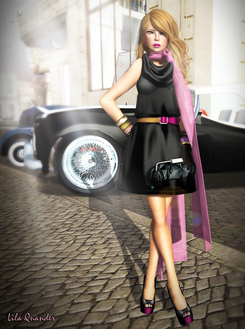 Izzie's Belted Dress - black Plat Hunt 2