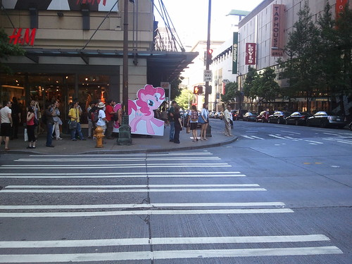 The pink pony marches on Seattle