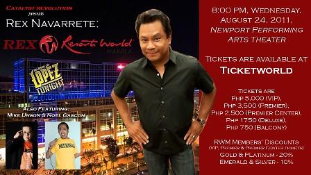 Rex Navarrete @ Resorts World Manila