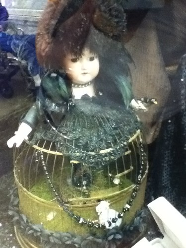 Creepy Birdcage Doll