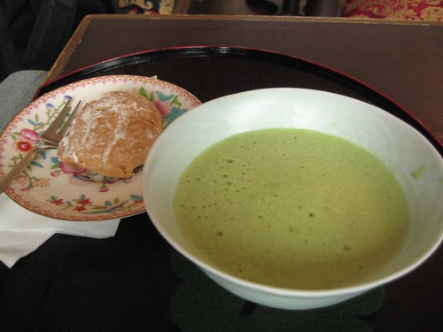 Pastry & green tea at Tan Tan's in Japan Town (San Francisco)