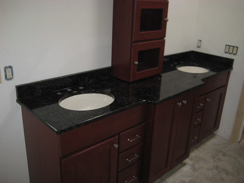 Volga Blue Bathroom Granite Countertop
