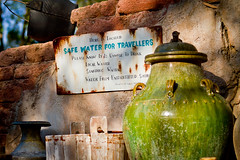 Animal Kingdom - Water For Travellers (Jeff Krause Photography) Tags: water animal sign trek kingdom disney pot jungle jar wdw maharajah