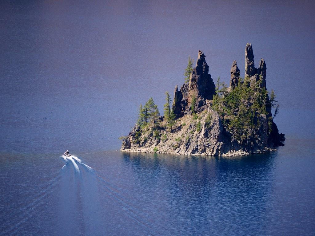 "The ""Phantom Ship"" in Crater Lake"