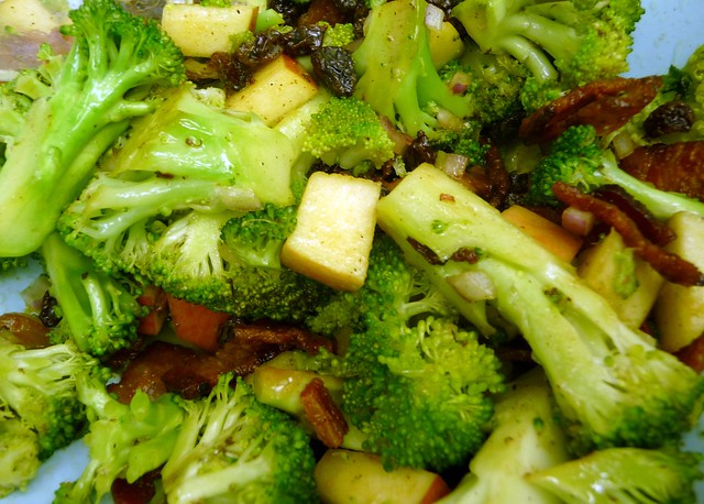 Broccoli, Bacon + Apple Salad