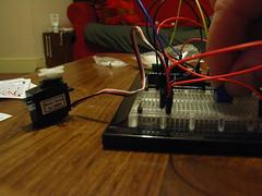 Arduino controlling a servo