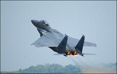 Duxford Airshow 2011 - USAF F-15E Strike Eagle Demo Team (Si 558) Tags: museum demo team nikon war force eagle air united jet johnson fast sigma september airshow duxford imperial strike states boeing seymour douglas usaf raf afb mcdonnell f15 d300 iwm lakenheath 2011 f15e 50500mmf463