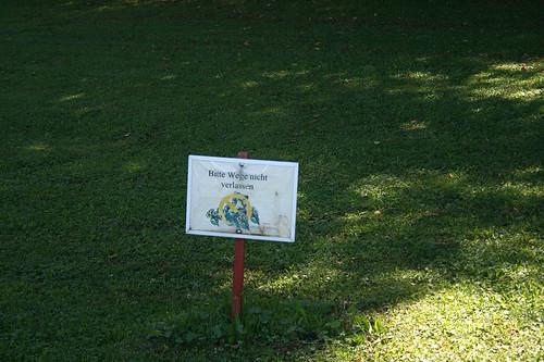 Verbotsschild - Schloßpark Nymphenburg