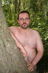 Bear in the woods... (canadianlookin) Tags: bear park gay outside winnipeg bare august manitoba glbtt