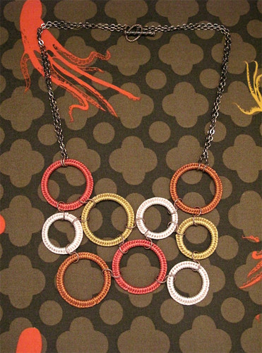 Macrame Hoop Bib Necklace - Fall