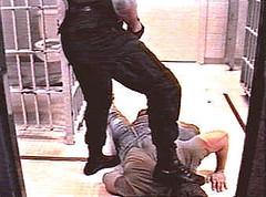 Cop Domination 7 (TBTAOTW2011) Tags: cop police uniform leather black boots bootlick boot worship lick prisoner abuse domination humiliation academy men dominant shine polish