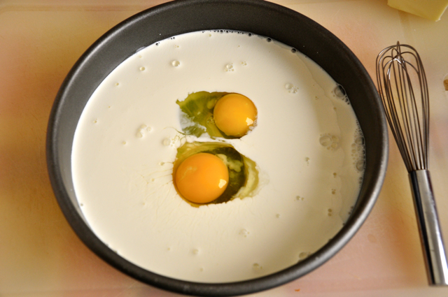 Two Eggs in Batter