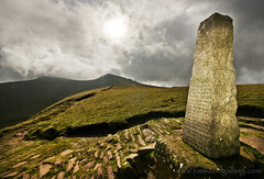 TOMMY JONES MEMORIAL 2......EXPLORE (IMAGES OF WALES.... (TIMWOOD)) Tags: sky mountain mountains grass wales clouds countryside memorial scenery gallery sony south www breconbeacons hills views obelisk summit com alpha mid hilltop penyfan valleys corndu a700 timwood storeyarms tommyjones cribbyn mygearandme