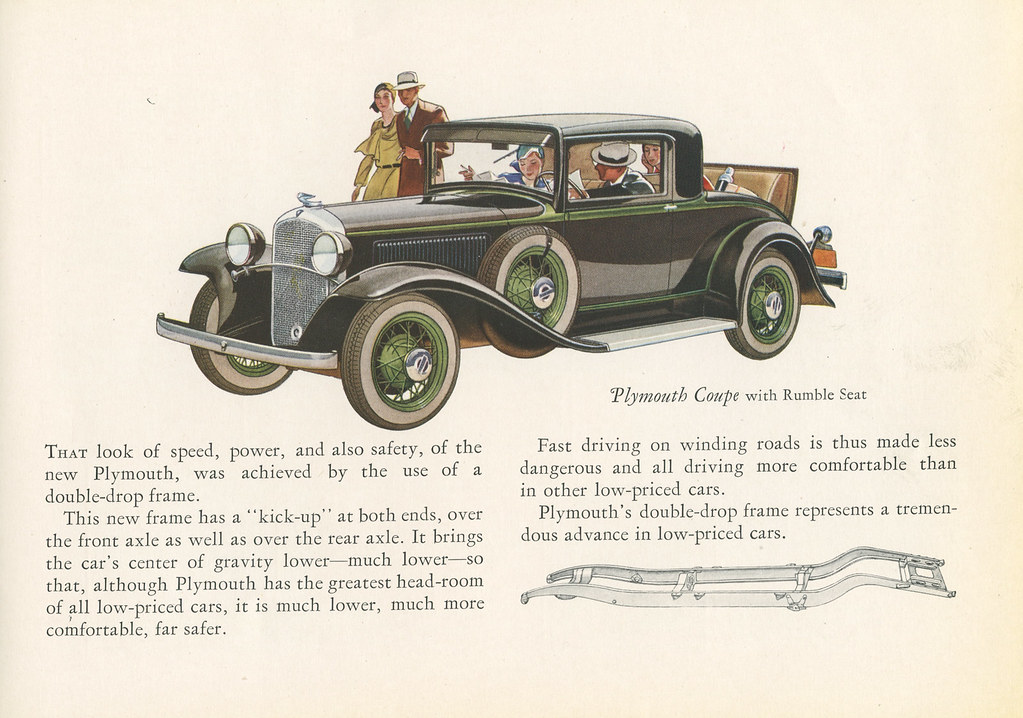 Plymouth, Chrysler Motors Product, with Floating Power and Free Wheeling, 1931 - Promotional Sales Brochure [Page 9]