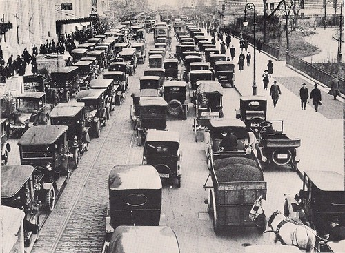 (Undated) Cars Clog 42nd Street near Bryant Park, NYC, NY
