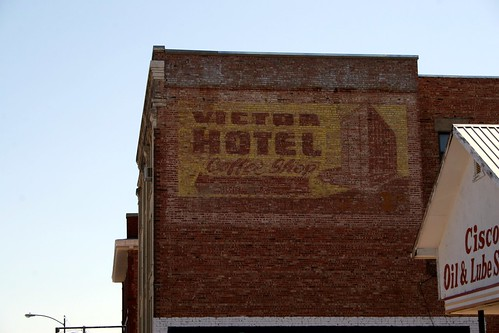 victor hotel coffee shop ghost sign