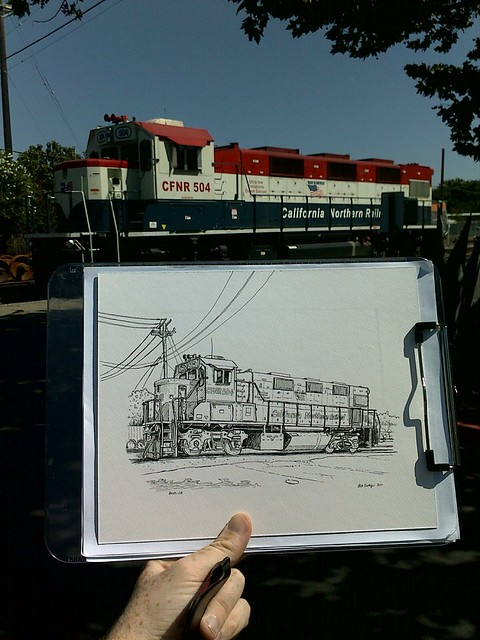 train drawing