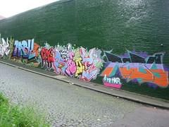 UK - Newcastle-upon-Tyne - Mural at Foundry Lane (JulesFoto) Tags: uk england streetart graffiti tyneside ramblers newcastleupontyne tynewear metropolitanwalkers foundrylane