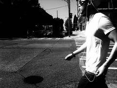 Get into the Groove (Star Rush) Tags: seattle street people urban blackandwhite streetphotography iphone exif:height=1536 exif:width=2048 hidden:country=usa hidden:city=seattle moblephotogroup