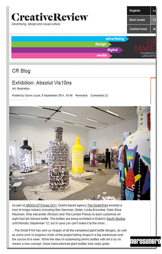 Absolut Vis10ns on Creative Review by nerosunero